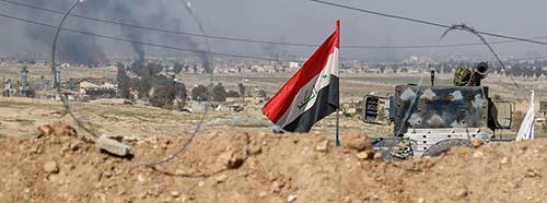 Irakische Truppen vor Mossul, März 2017.