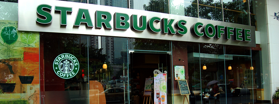 Starbucks Coffee Shop in Guangzhou, China.