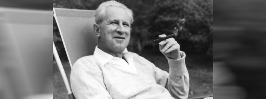 Herbert Marcuse in Newton, Massachusetts, 1955.