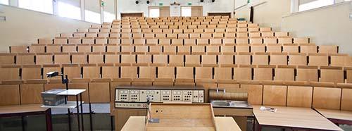 Hörsaal der Universität Erfurt.