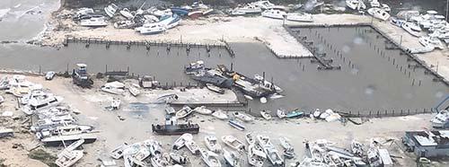 Zerstörungen auf den Bahamas durch Hurrikan Dorian, September 2019.