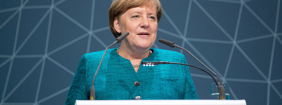Angela Merkel in Hamburg, April 2017.