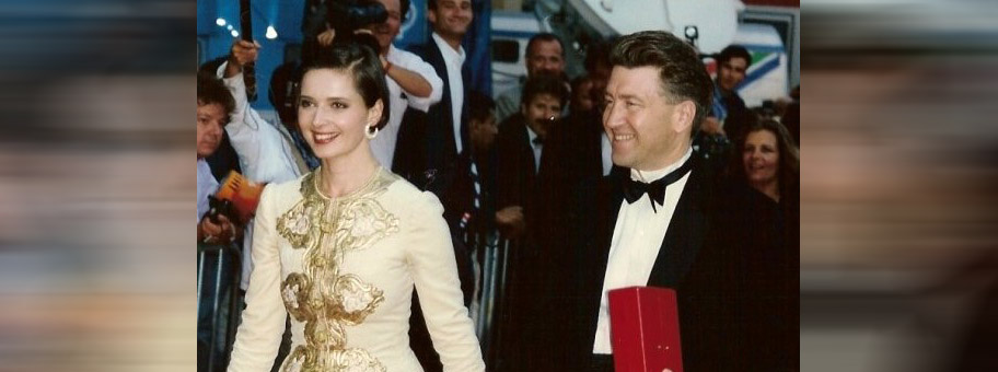Isabella Rossellini und David Lynch am Film Festival von Cannes, 1990.