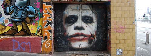 Heath Ledger als Joker.