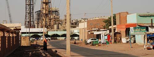 Strasse in Khartum, Hauptstadt des Sudan.