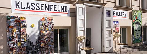 KlassenfeindGalerie an der Oranienburger Str. 22 in Berlin.