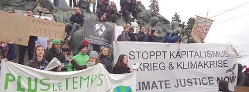Demonstration gegen die Klimakrise in Bern, Dezember 2018.