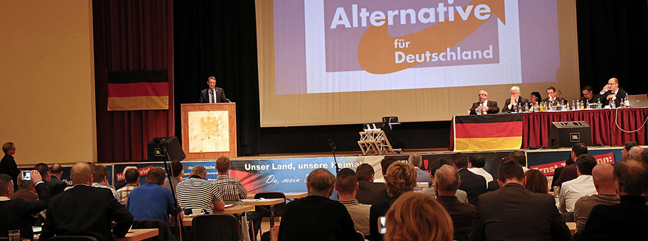 Björn Höcke am Landesparteitag der AfD in Arnstadt, April 2016.