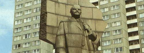 Lenin Statue in Berlin.