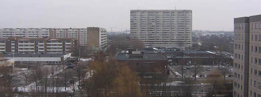 Wohnblocks in Malmö, Schweden.  Ärkan
