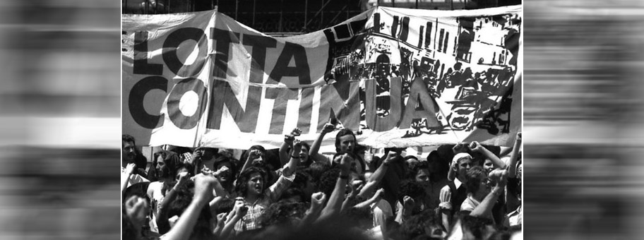 Demonstration der Lotta Continua Bewegung, 1973.