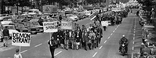 Studentenrevolte 196768, WestBerlin.