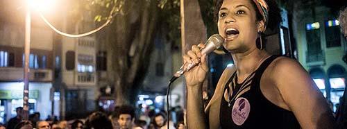 Marielle Franco auf einer Veranstaltung in Rio de Janeiro, August 2016.