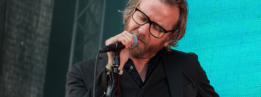 Matt Berninger von der Indieband «The National» in Göteburg, Schweden, August 2014.