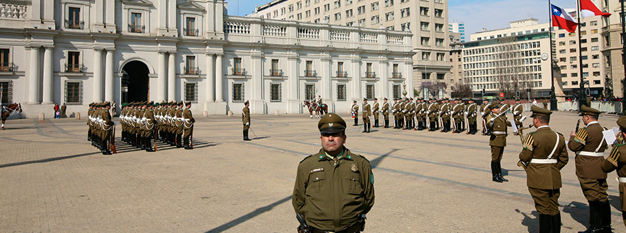 Militärparade in Santiago de Chile.