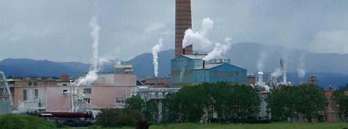 Antigua planta procesadora de pasta de celulosa de fibra corta propiedad del grupo Rottneros (ex FEFASA), en Miranda de Ebro (Burgos, Castilla y León, España)  Zarateman