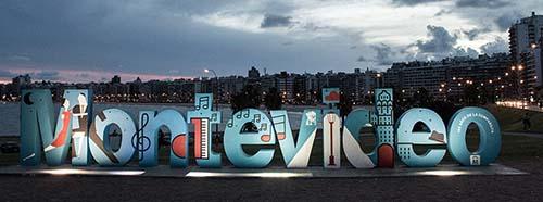 Strand von Montevideo, Hauptstadt von Uruguay.