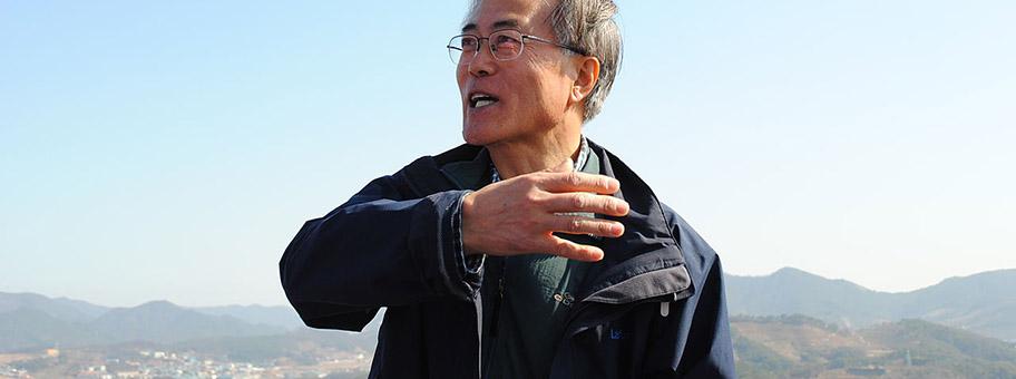 Südkoreas Präsident Moon Jaein.