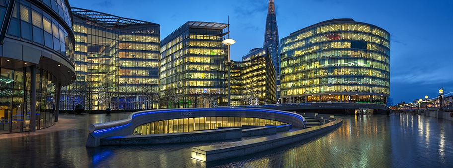 Bürogebäudekomplex in der Finanzmetrople London.