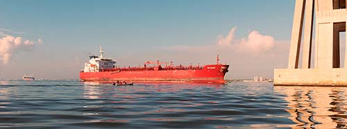 Öltanker auf dem Maracaibo See, Veuezuela.