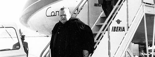 Orson Welles in Madrid, Februar 1954.