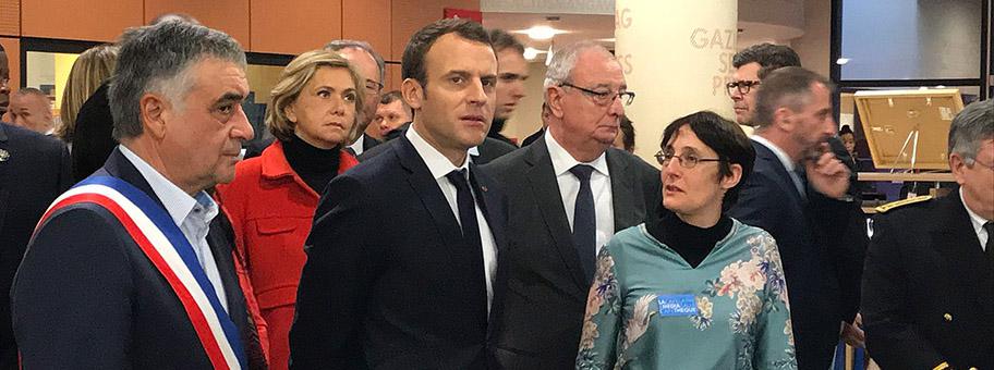 Emmanuel Macron, Februar 2018.