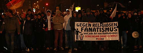 Pegida Demonstration in Dresden.
