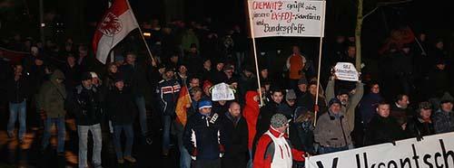 PegidaDemonstration in Dresden, Januar 2015.