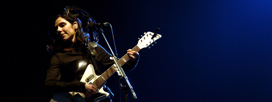 PJ Harvey am «I'll be your mirror» Festival im Alexandra Palace in London, Juli 2011.