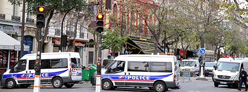 Paris shootings, the day after near the Bataclan.