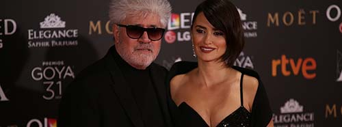 Pedro Almodóvar und Penélope Cruz an den Goya Awards 2017 in Madrid.