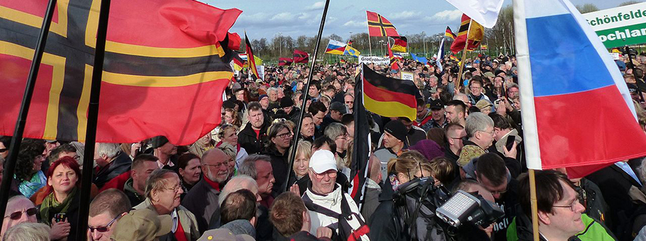 Pegida Demonstration in Dresden, 13.