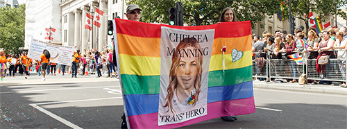Chelsea Manning Transparent an der Pride in London 2016.