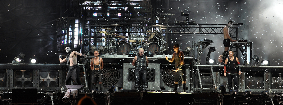 Die MetalGruppe «Rammstein» am Wacken Open Air 2013.