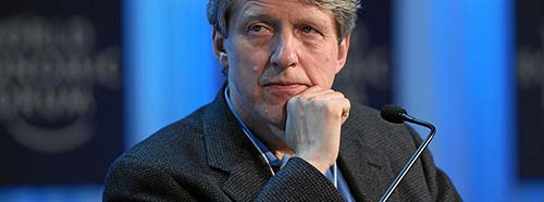 Nobelpreisträger Robert Shiller am World Economic Forum (WEF) in Davos, Januar 2012.