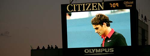 Roger Federer am USOpen.