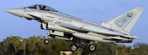 Eurofighter EF2000 Typhoon in Diensten der saudiarabischen Armee.