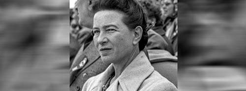 Simone de Beauvoir in Peking, Oktober 1955.