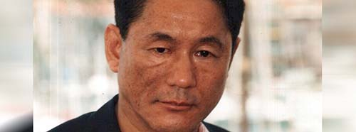 Kitano Takeshi in Cannes 2000.