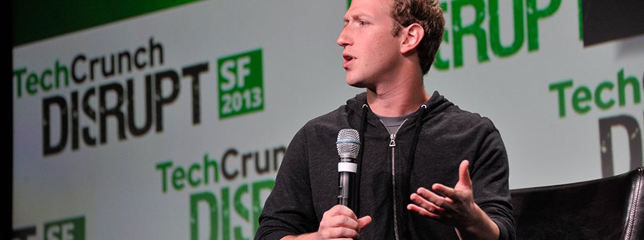 Mark Zuckerberg in San Francisco an der TechCrunch Konferenz im September 2012.