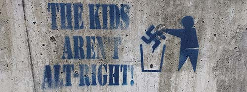 Graffiti: «the kids aren't alt right», gefunden in Seattle, Washington.
