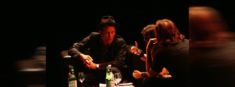 Tom Waits während einem Interview in Buenos Aires, Argentinien, April 2007.