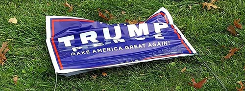 Trump Schild in Ohio, USA.