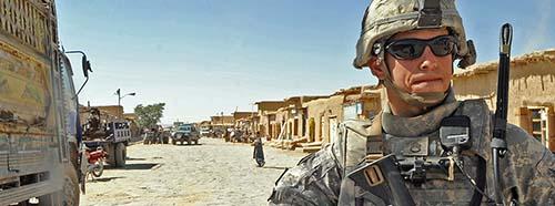 USEinheit auf Patrouille in der Provinz Paktika im Osten von Afghanistan im September 2009.