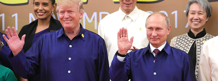 Donald Trump und Wladimir Putin, November 2017.