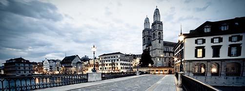 Grossmunster en Zurich, Suiza.