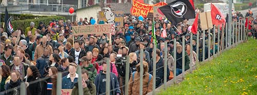 Antifa Demo in Schwyz.