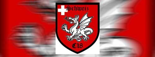 Anstelle der Triskele (B&H) steht bei C18 meist der Drache im Logo.