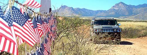 Grenzzaun zwischen USA und Mexiko in Arizona.