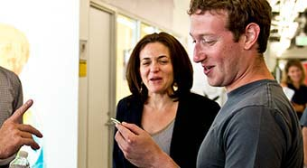 Mark Zuckerberg, Facebook founder and CEO at Facebook headquarters in Mountain View, California.